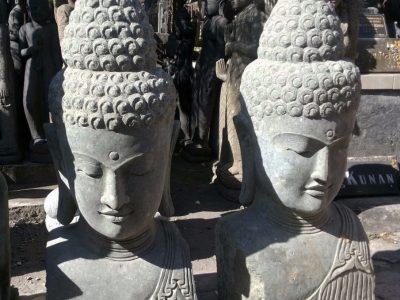 buddha head stone