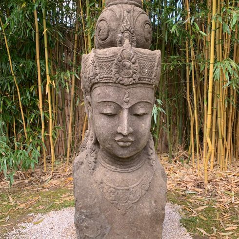 dewi sri green stone hand carved sculpture