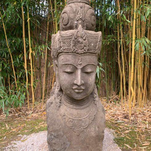 dewi sri green stone hand carved sculpture